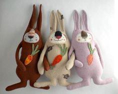 Мягкие игрушки из старого свитера