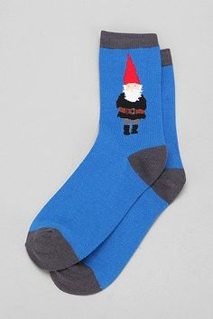 Gnome Sock, creepy little gnome! Leggings, Tights, Funky Socks, Cozy Socks, Novelty Socks, Happy Socks, Crazy Shoes, Sock Shoes, Gnomes