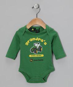 Green 'Grandpa's Little Farmer' Bodysuit - Infant