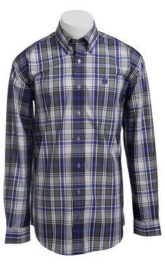 Cinch L/S Mens Fine Weave Shirt 1103717