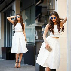 Inspiração: Estilo LadyLike 💕 Tendência: All White 💕  Amo esse estilo, e vocês? 💕  #ootd #outfit #fashion #fashiongram #fashionblog #fashionblogger #fashionweek #dress #style #lookdodia #lookoftheday #chic #summerlook #instagood #trendalert #moda #modafeminina #love #blog #skirt #inspiracaodiaria