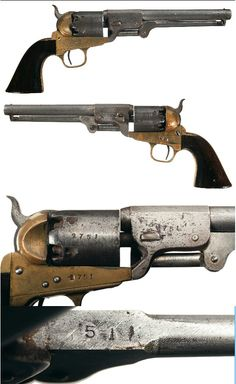 Serial #: 2751 Manufacturer: Griswold & Gunnison Model:1851 Type: Revolver Gauge: 36 percussion Barrel Length: 7 1/2 part octagon Finish:brass/blue Grip:walnut Description: This is an original example of a Confederate Model 1851 Navy type percussion revolver that was manufactured by Samuel Griswold in Griswoldville, Georgia, in May, 1864. Griswold was the largest Confederate manufacturer of handguns and produced approximately 3700 percussion revolvers between 1862 and 1864. This Second…