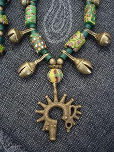 African Brass & Venetian Glass Bead Tribal by GEMILAJewels on Etsy, $290.00