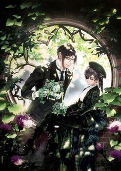 Sebastian X Ciel, Sebaciel, Black Buttler, Black Butler Anime, Black Butler Kuroshitsuji, Ciel Phantomhive, Fan Art, Cartoon, Drawings