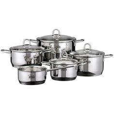 #PotsAndPanSet Stainless Steel Saucepans Double Base Cookware Saucepan 5PC New