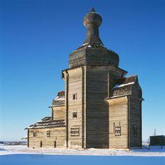Russia - Zachachye, Arkhangel region, Church of St. Nicholas (17th – 18th C)