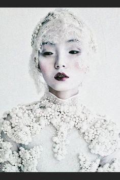 Xiao Wen Ju wears Givenchy Haute Couture F/W 2011