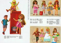 1968-69 Mattel Catalog Page (Foreign - French) - Tutti, Todd and Chris Doll and MOD Fashions