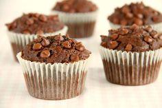 Muffins de calabacín y chocolate