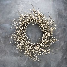 White Berry Wreath - Magnolia Market | Chip & Joanna Gaines - Above the bed?