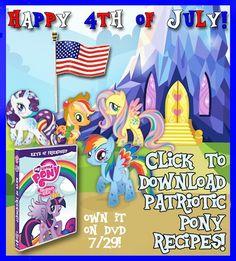 My Little Pony: Keys of Friendship Patriotic Pony Recipes #mylittlepony #4thofJuly #recipes