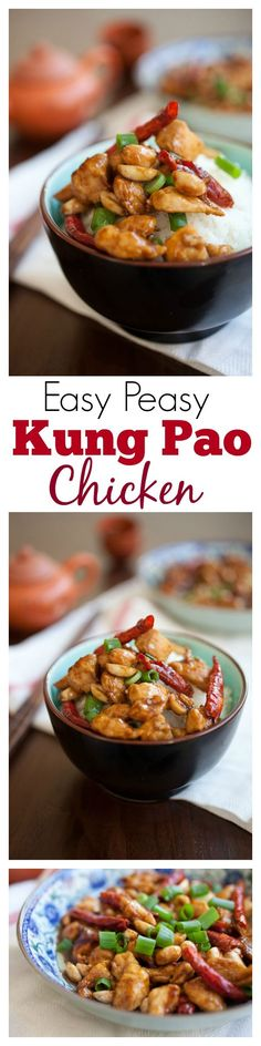 Kung Pao Chicken - best-ever kung pao chicken, easy recipe that tastes much BETTER than takeout | rasamalaysia.com