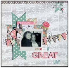 GrandDiva's Creative Corner: Scrappy Friends June Challenge and WINNERS!!!!! #scrapbooklayouts