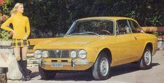 "#AlfaRomeo GT 2000 Veloce with a unusual ""Giallo Ocra"" livery @Alfa Romeo Official"