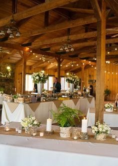 Rustic Wedding Reception Idea | Captured by Lindsey Photography @Lindsey Grande Stone