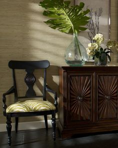 Interior Design Trends: Natural Elements. Branches and leaves in our Ethan Allen vases.