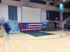 Veteran's Day Assembly decorations