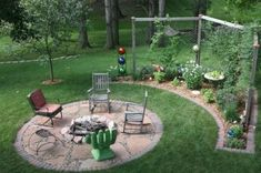 simple/rustic firepit area and backdrop