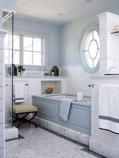 Gray and Blue Bathroom Design. 20 Gray and Blue Bathroom Design. 10 Tips for Designing A Small Bathroom Blue Bathrooms Designs, Small Bathrooms, Blue Bathroom Decor, Bathroom Ideas, Bathroom Interior, Bathroom Colours, Silver Bathroom, Design Bathroom, Master Bathroom