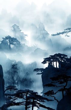 Chinese Landscape Photography Kid Science New Ideas Asian Landscape, Chinese Landscape Painting, Fantasy Landscape, Watercolor Landscape, Landscape Paintings, Chinese Mountains, Landscape Photography, Nature Photography, Mountain Photography