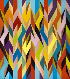 Odili Donald Odita Nomad | 2012 | Acrylic on canvas | 229 x 203 cm