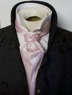 Formal Length Ascot Cravat Tie - Cherry Blossom Pink Dupioni SILK