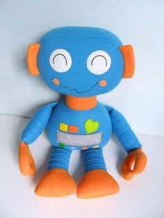 Kids - Baby & Toddler - Stuffed Toy - Rag Doll - Robot - Boy - Create Your Own Custom Order. $55.00, via Etsy.