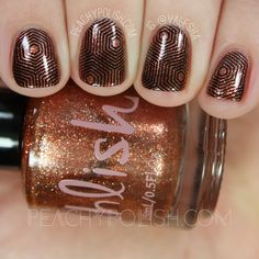 nails.quenalbertini: UberChic Beauty 14-03, Collection 14 Stamping Plate Review | Peachy Polish