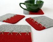 Coaster out of felt...must try!