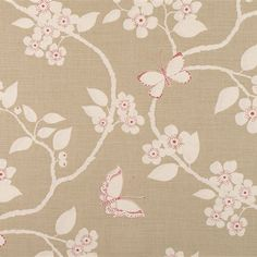 """Vanessa Arbuthnott """"Meadow"""" collection - """"Flora and Fauna"""" fabric in Duck Egg Fabric Blinds, Drapery Fabric, Lounge Curtains, Vanessa Arbuthnott, Blue Wood, Rustic Feel, Fabric Wallpaper, Soft Furnishings, Fabric Design"""