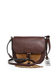 3b7ae3c56ffd  169.99 Frye Clara Leather  amp  Suede Saddle Bag - I don t need it