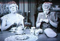 """Ethel and Lucy....""""The Girls Take up Knitting"""""""