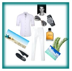 """""""for men"""" by seka-247 ❤ liked on Polyvore featuring Stone Rose, Hydrogen, AVI-8, Ray-Ban, Armani Beauty, Uniqlo, men's fashion and menswear"""