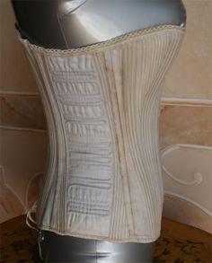 "Inside the bust the inscription: ""Balls Corset Style B - Pat February 22 - 1882 Bustle Dress, Court Dresses, Feminine Mystique, Edwardian Dress, Victorian Women, Belle Epoque, Corsets, Women Wear, February 22"