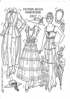 Pattern Book Fashions 1917 Paper Dolls by Charles Ventura - Nena bonecas de papel - Picasa Web Albums