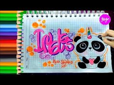 "IDEAS PARA MARCAR TUS CUADERNOS-CÓMO DIBUJAR ""PANDICORNIO""Inglés-Yaye - YouTube Diy Notebook, Notebook Covers, Cute Notes, Aesthetic Girl, Love Pictures, Smash Book, School Projects, My Little Pony, Ideas Para"
