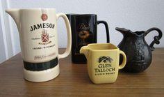 Nu in de #Catawiki veilingen: 4 Whisky waterkannen porselein - 2e helft 20e eeuw