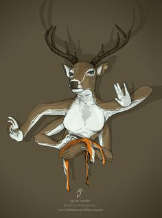Eye of deer by Didier Vázquez, via Behance