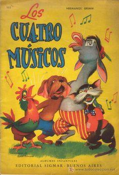 LOS CUATRO MUSICOS. Hermanos Grimm. Albumes Infantiles Editorial Sigmar. Año 1.955. - Foto 1