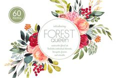 Forest Queen watercolor set by Charushella on @creativemarket