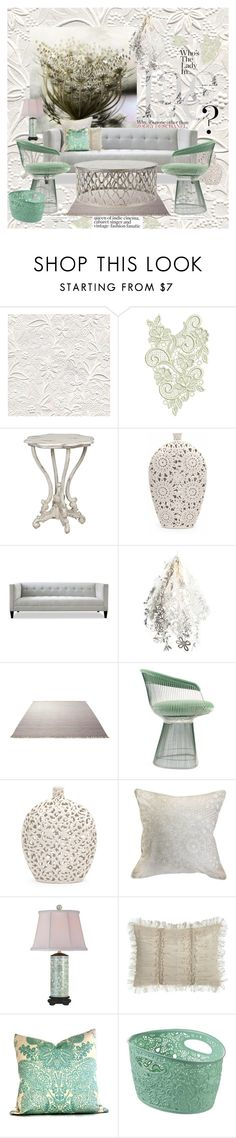 """""""Queen Ann's Lace"""" by jesking ❤ liked on Polyvore featuring interior, interiors, interior design, home, home decor, interior decorating, Artecnica, ESPRIT, Knoll and Universal Lighting and Decor"""