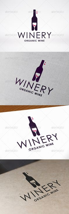 Winery Logo Template — Vector EPS #sommelier #gourmet • Available here → https://graphicriver.net/item/winery-logo-template/7521764?ref=pxcr
