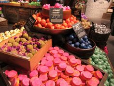 Bath Oils - exclusive to Lush Oxford Street I want to try them all!