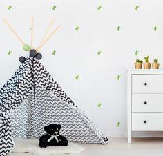 Vinyl child - Little cactus - Mini removable decorative vinyl cactus Mini Cactus, Kids Rugs, Children, Handmade Gifts, Etsy, Home Decor, Ideas, Decorate Walls, Vinyls