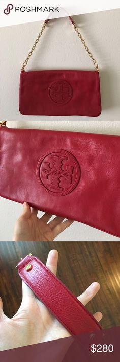 Tory Burch Handbag/Clutch Used only once I like new condition! Removable strap. The bag can be used two ways. Clean interior and outside. ❌No trade Tory Burch Bags