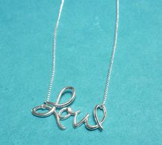 """Sterling Silver """"Love"""" Pendant Necklace"""