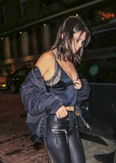 Kendall Jenner in Leather ~ Mr.Chow in New York City