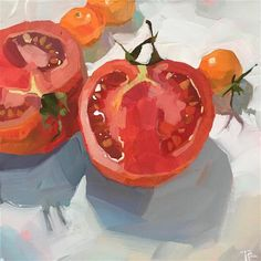 Value Painting, Food Painting, House Painting, Painting & Drawing, Simple Acrylic Paintings, Realistic Paintings, Easy Paintings, Beach Mural, Traditional Artwork