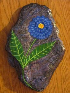 Hand Painted Rock Handpainted stone Home by UGOTMYFINGERPRINTS