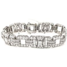 Pre-owned Tiffany & Co. Platinum & 16ct. Diamond Bracelet (126.430 BRL) ❤ liked on Polyvore featuring jewelry, bracelets, diamond bangles, platinum bangles, preowned jewelry, tiffany co jewelry and diamond jewelry